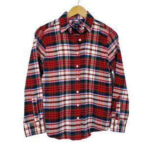 Lands End Cotton Flannel Shirt  PETITE  A6-3